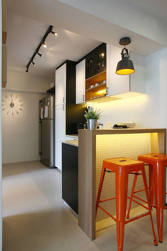 Virtual Kitchen Design Hdb Singapore: #hdb #kitchen #island #Singapore #finelinedesignstudio