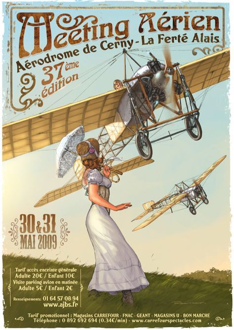 It is a quality poster. The French have a habit of producing excellent airshow posters - have a look at these from La Ferté Alais.