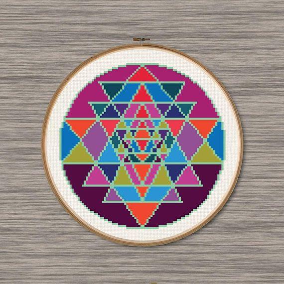 Sacred Circle Chart Counted Cross Stitch Pattern Needlework Xstitch craft DIY