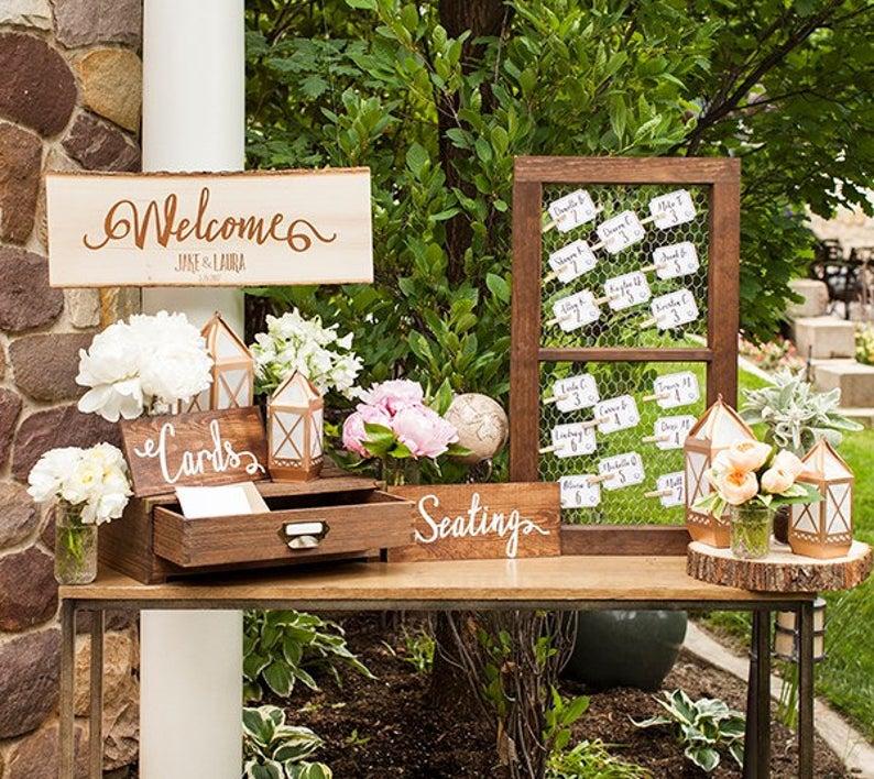 Welcome Wedding Set Vinyl, Wedding Decor, Wedding Sign, Wedding Decal, DIY  Wedding | Wedding welcome table, Wedding entrance decor, Wedding entry table
