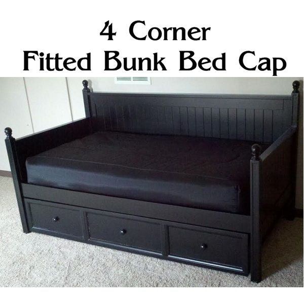4 Corner Fitted Bunk Bed Cap Comforter Fitted Daybed Cover Bunk