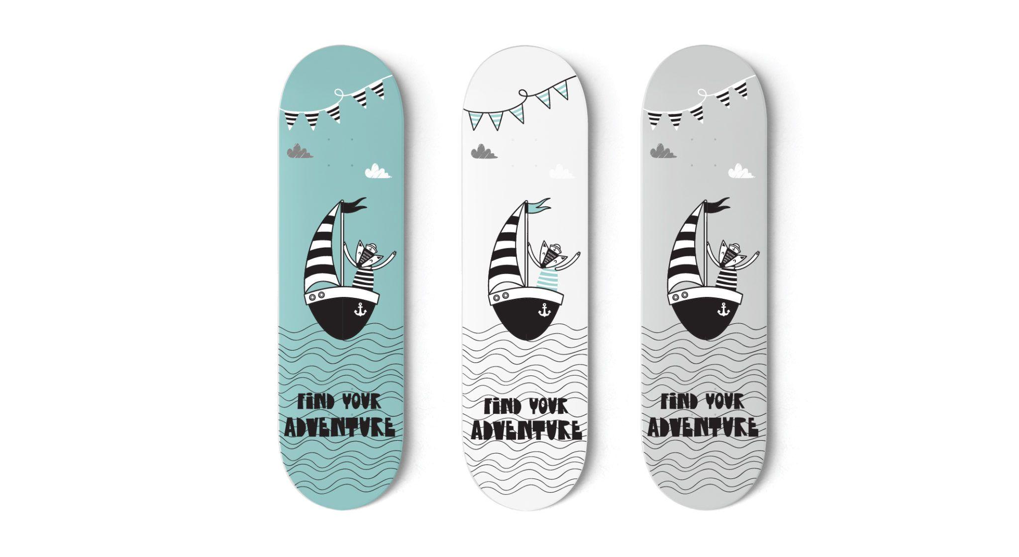 Find Your Adventure Skateboard Art In 2020 Skateboard Deck Art Skateboard Decks Skateboard