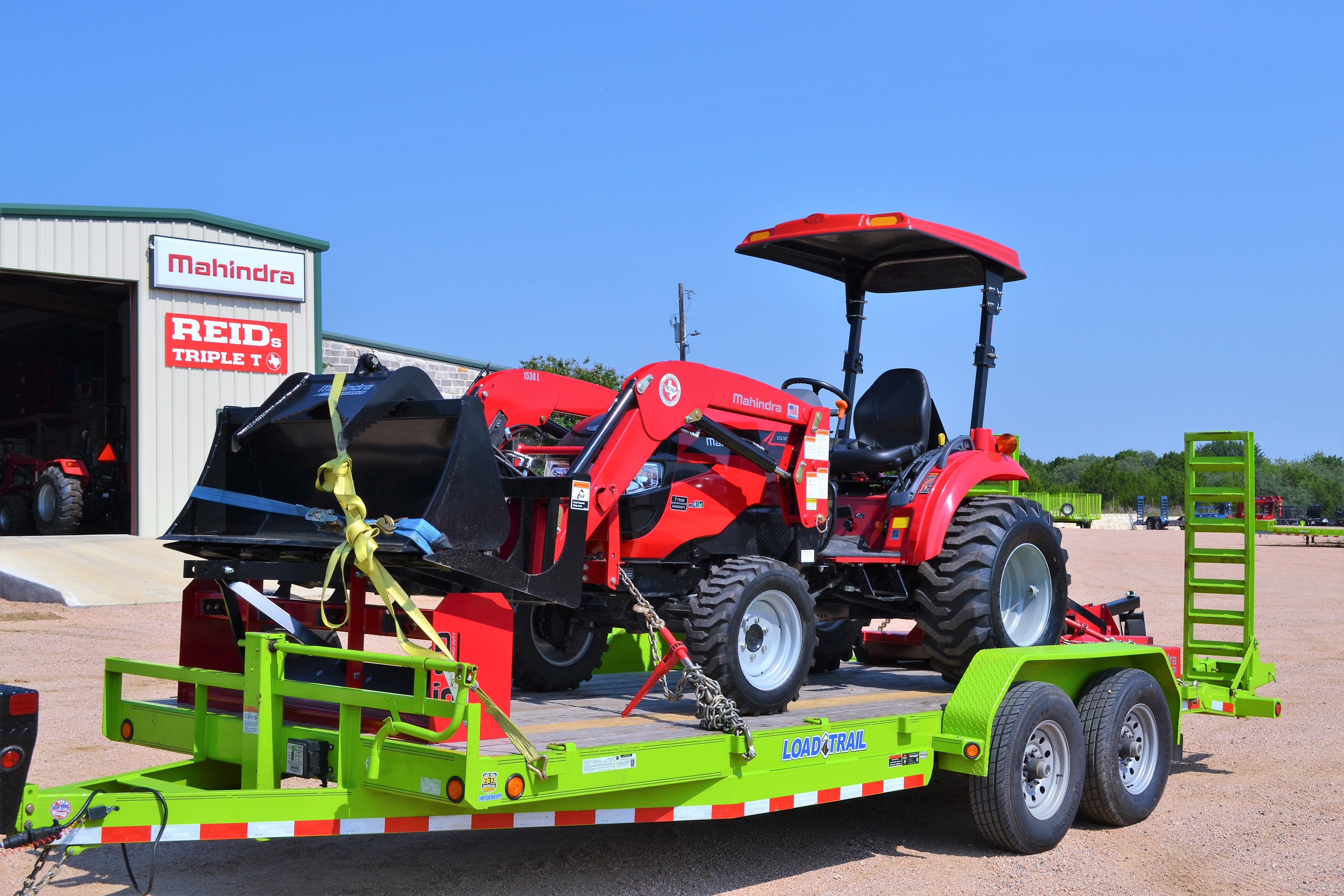 We've got GREAT DEALS on Mahindra Tractor and Load Trail