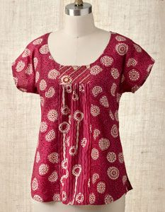 Preethi top in pomegranate red. I want. From marketplaceindia.com.