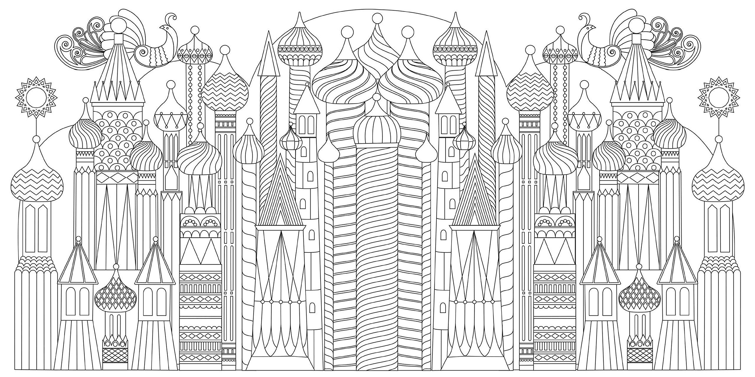 Splendid Cities Color Your Way To Calm Rosie Goodwin Alice Chadwick 9780316265812 Amazon Com Book Coloring Book Art Designs Coloring Books Coloring Books