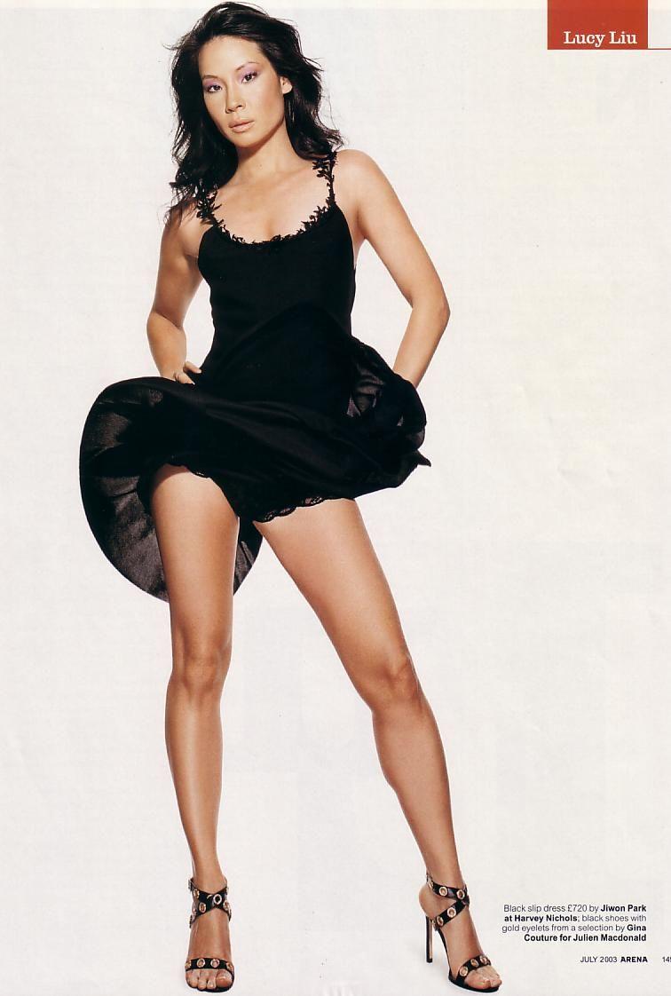Lucy Liu's legs & heels