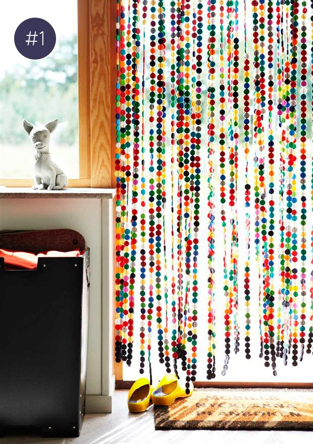colorful curtains as room dividers #decor #curtains For the Home