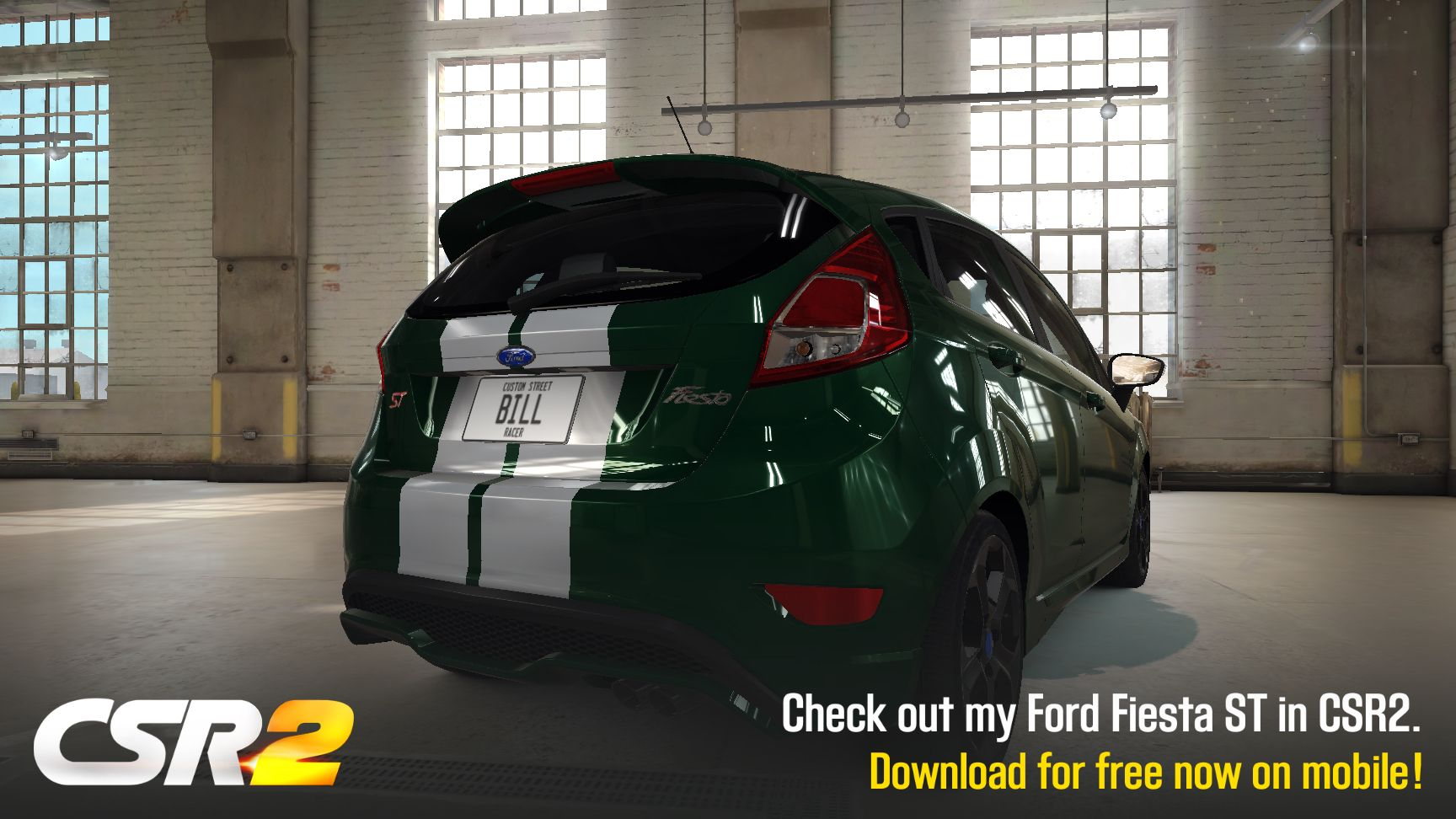 Ford Fiesta St Csr Racing 2 I D Prefer Dark Green Wheels Stripes On A White Car But This Is Close Enough Ford Fiesta St Fiesta St Ford Fiesta