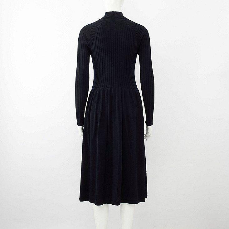 f62f82fa97f WOMEN 3D EXTRA FINE MERINO RIBBED LONG-SLEEVE DRESS