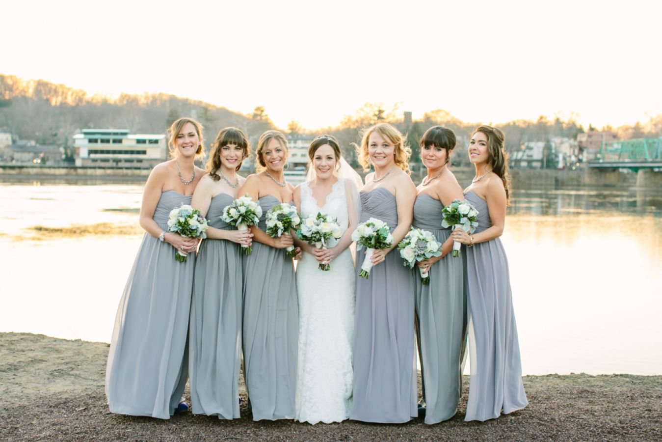 Kathleen corey new jersey wedding donna morgan collection bride kathleen had her dream team right beside her in our stephanie and laura dresses in ombrellifo Gallery