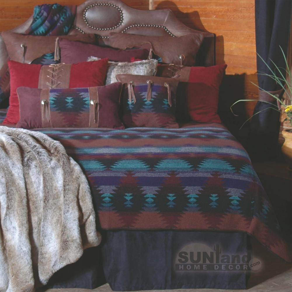"""""""over the top"""" log cabin bedware. But still an inspiration"""