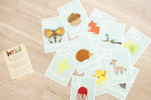 My new favorite alphabet cards by Children Inspire Design.