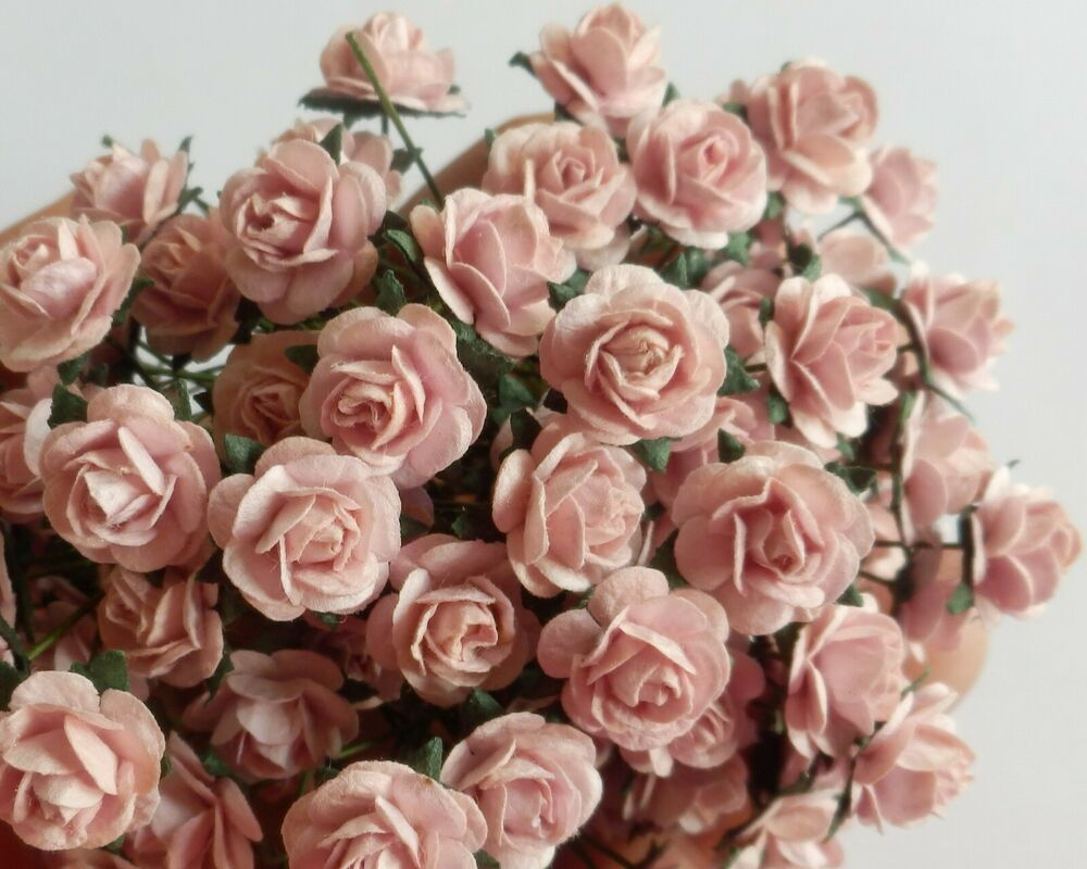 Miniature Paper Flowers For Card Making And Dollhouse Crafts By