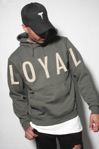 hip hop hoodie berysquad loyal khaki d r e s s h i m pinterest streetwear shop. Black Bedroom Furniture Sets. Home Design Ideas
