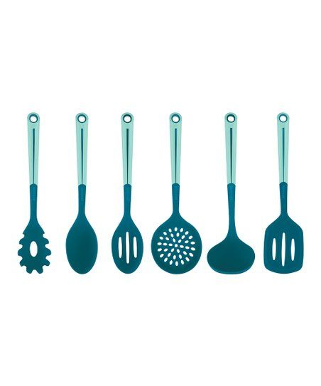 Art and Cook Teal Utensil Set | Zulily #dishware