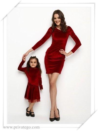 164bb4f8003ad En Güzel Anne Kız Kombin Modelleri, Anne Kız Elbise Kombin Önerileri, 2018  Anne Kız Elbise Kombinleri, Anne Kız Elbiseler