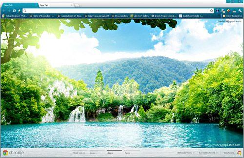 Forest Lake Google Chrome Theme Scenery Wallpaper Landscape Wallpaper Beautiful Landscape Wallpaper