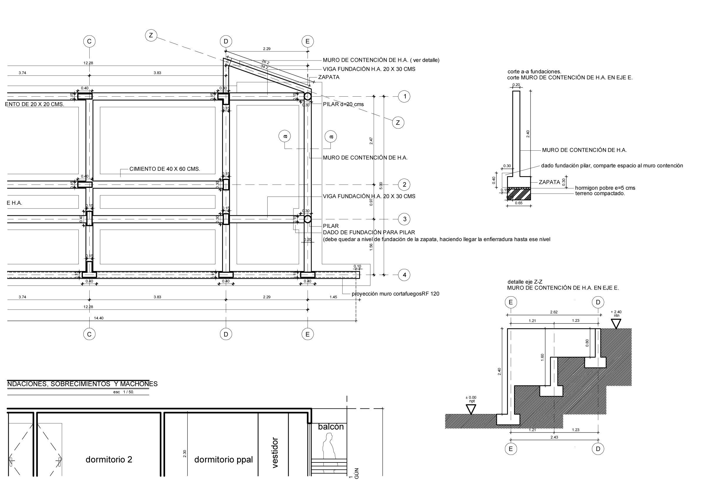 Plano de estructuras para dise o vivienda unifamiliar de 2 - Planos de viviendas ...