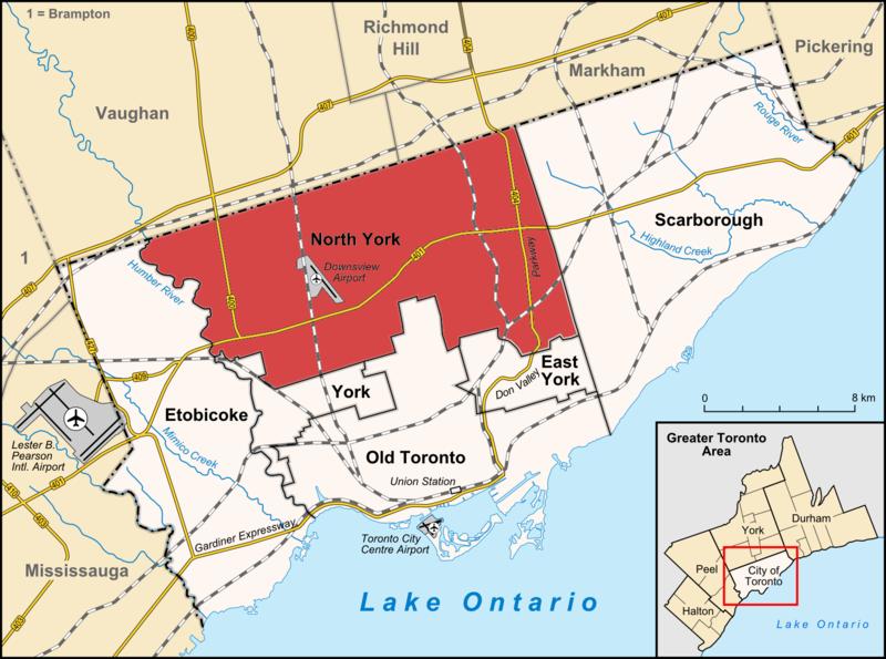 Canada Map North York Map of North York, Ontario   North york, Scarborough, Norway