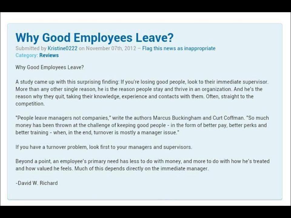 648 Relax and Succeed -Why good employees leave - Notitie en - leave application form for employee