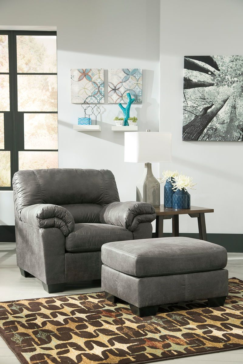 Swell Bladen Slate Chair With Ottoman Home Ideas Chair Chair Dailytribune Chair Design For Home Dailytribuneorg