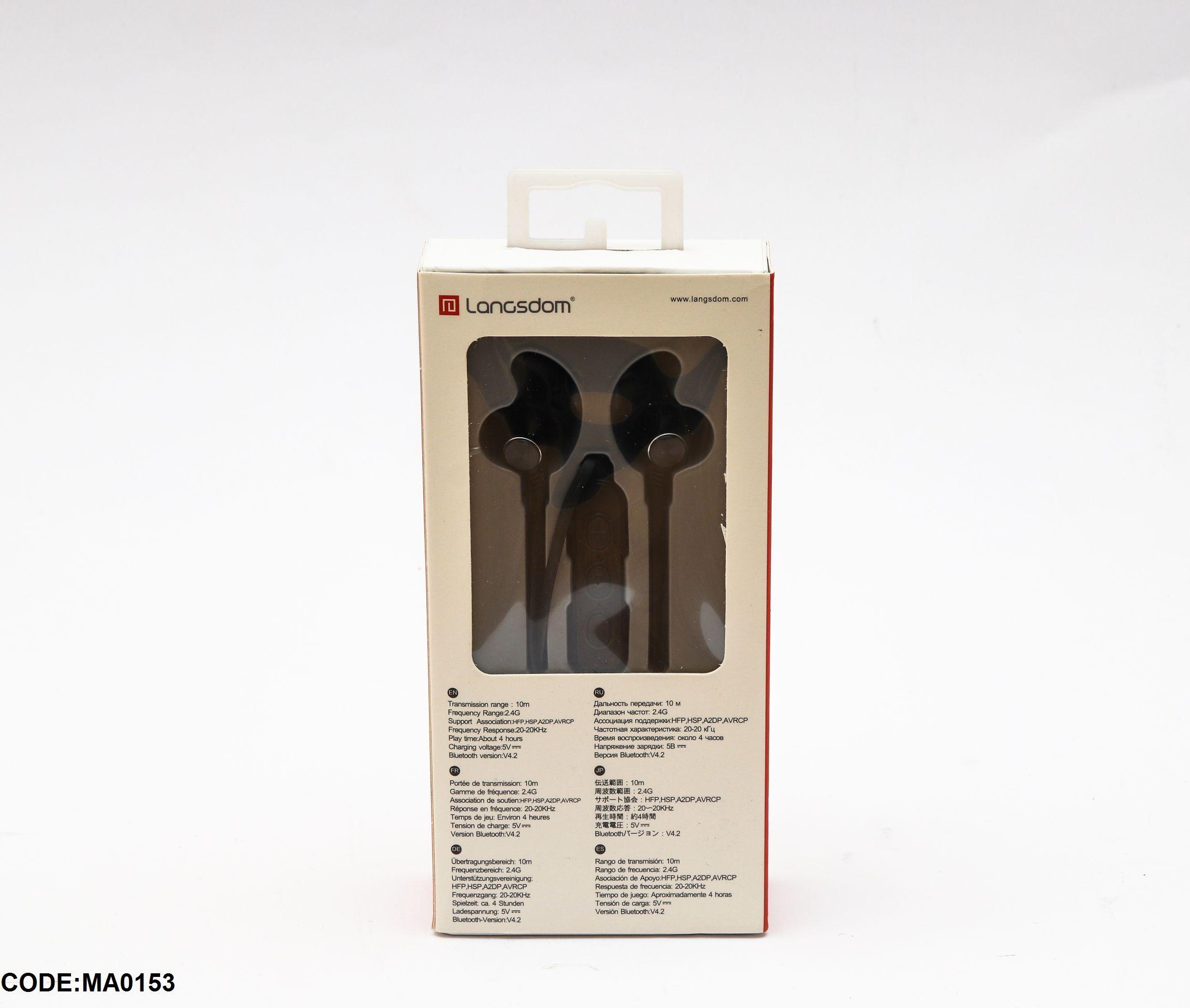 Bluetooth Headphones Langsdom بسعر 180ج بدل من 250ج Online Phone Accessories Online Store
