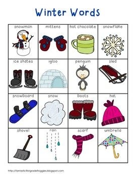 Writing center tools winter words fantastic first grade this is a pack of for your writing center or word wall this is a set of winter words this pack contains a full page list color and black and white sciox Gallery