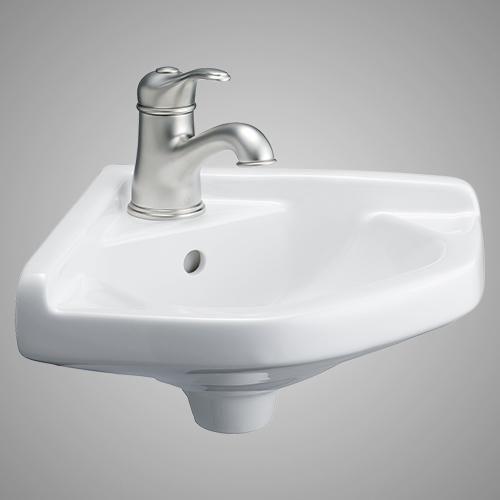 Pease Vitreous China Corner Wall Mount Sink Wall Mounted Bathroom Sinks Sink Wall Mounted Sink