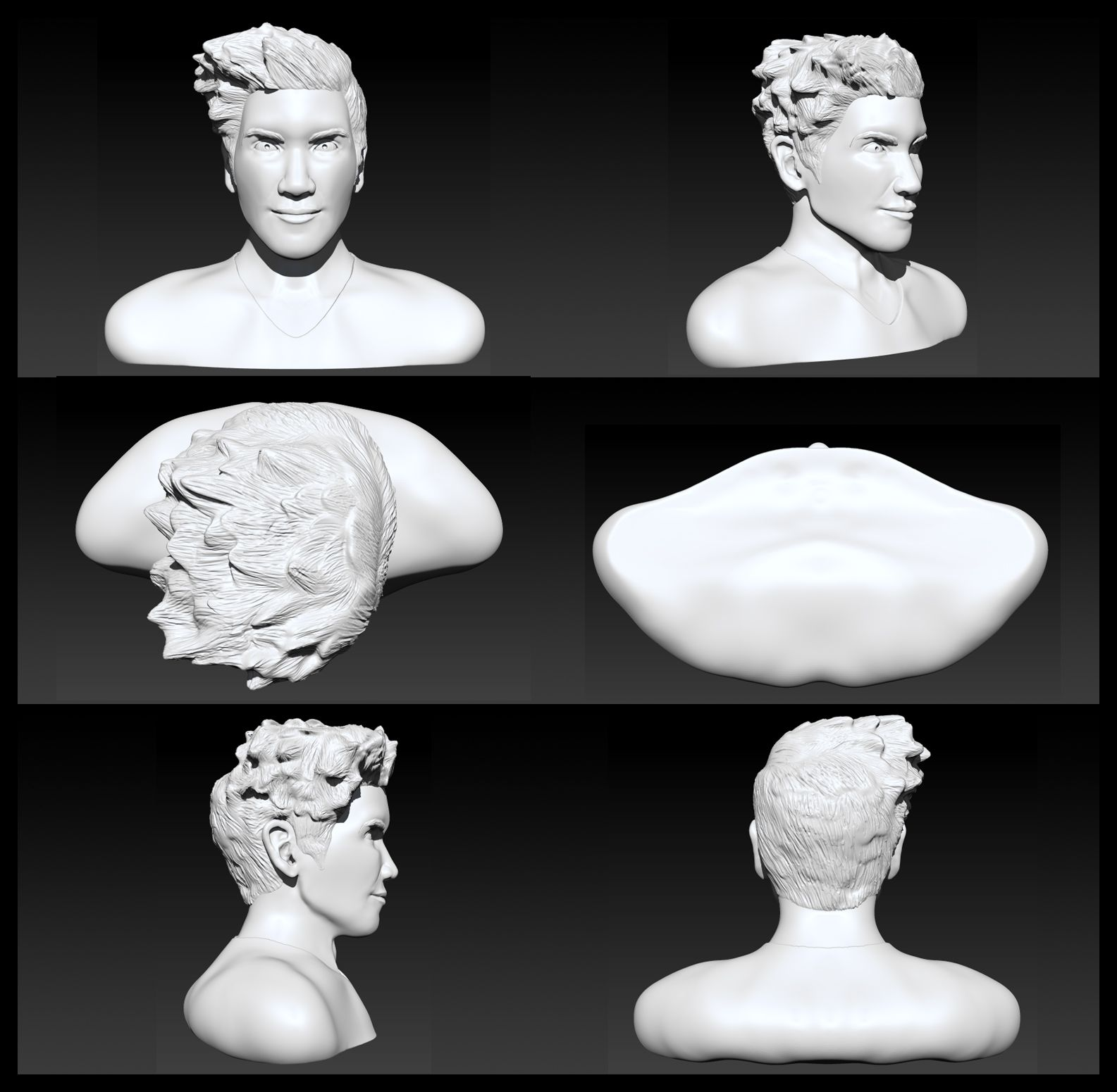 Render Comp. v1 for the Human Bust project in PFP.