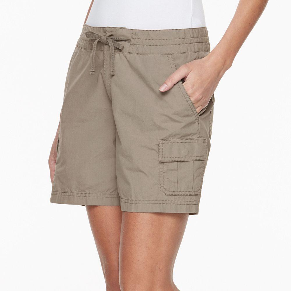 Women's Columbia Green Meadows Cargo Poplin Shorts, Size: 14, Red/Coppr (Rust/Coppr)