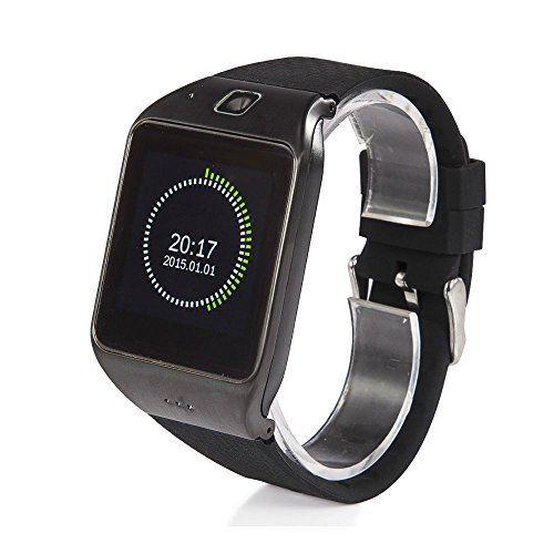BLACK/BLACK LG118 Waterproof Bluetooth Smart Watch Phone for