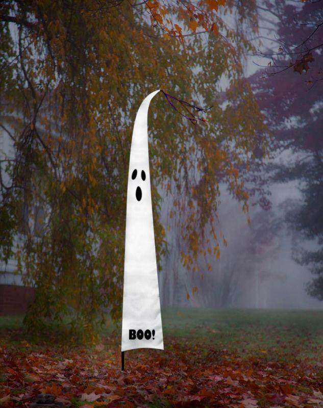 ghost decorations Boo! Decorative Ghost Halloween Garden Flag 120