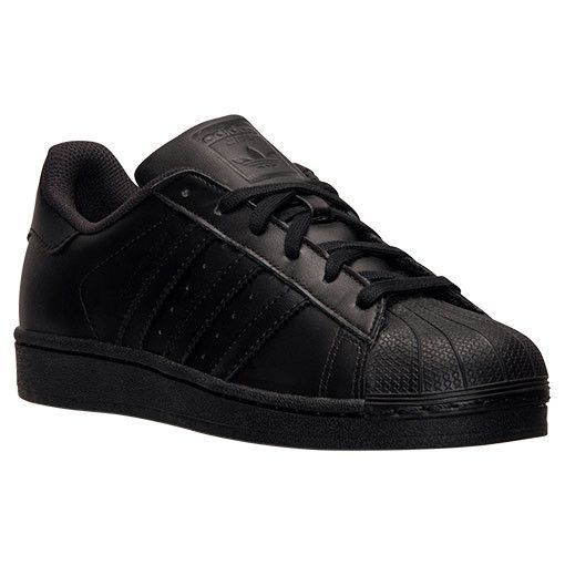 detailed look 3d9d7 54c7a adidas Originals All Black Shell Toe Superstar II Foundation Mens Shoes  (Size 13)