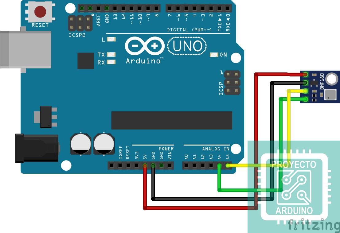 Arduino Uno R3 Con Sensor De Temperatura Bmp180 Sensor Sensor De Temperatura Arduino Arduino