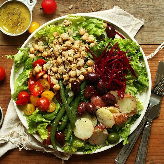 be healthy-page: Vegan Nicoise Salad