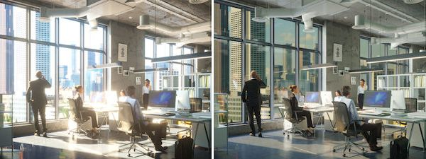 Self Tinting Electrochromic Glass Windows Eliminate Need For