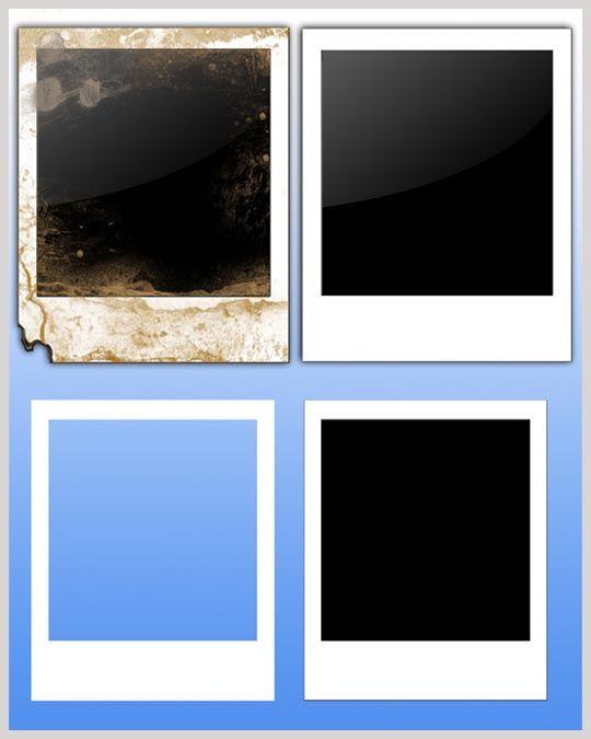 30 Handy Blank Templates For Designers Polaroid Template Psd