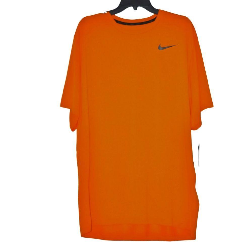 a0b15116 Nike Men's Dri Fit Training SS Tee Shirt Orange size 2XL NWT #Nike  #BaseLayers