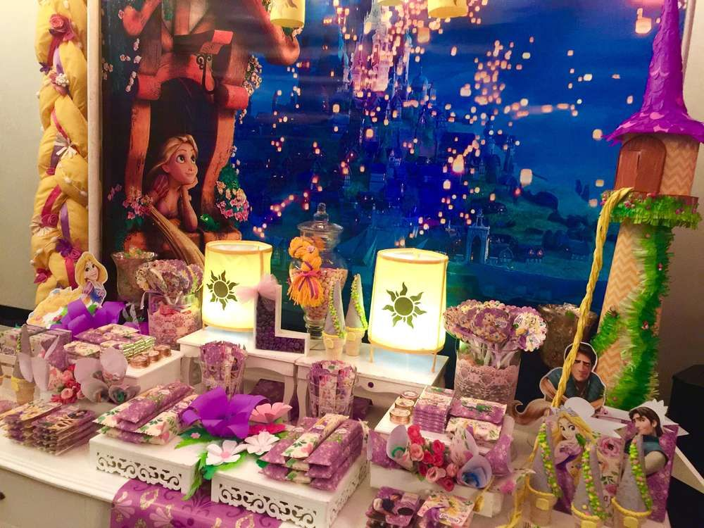 Fantastic Tangled Rapunzel Birthday Party See More Party