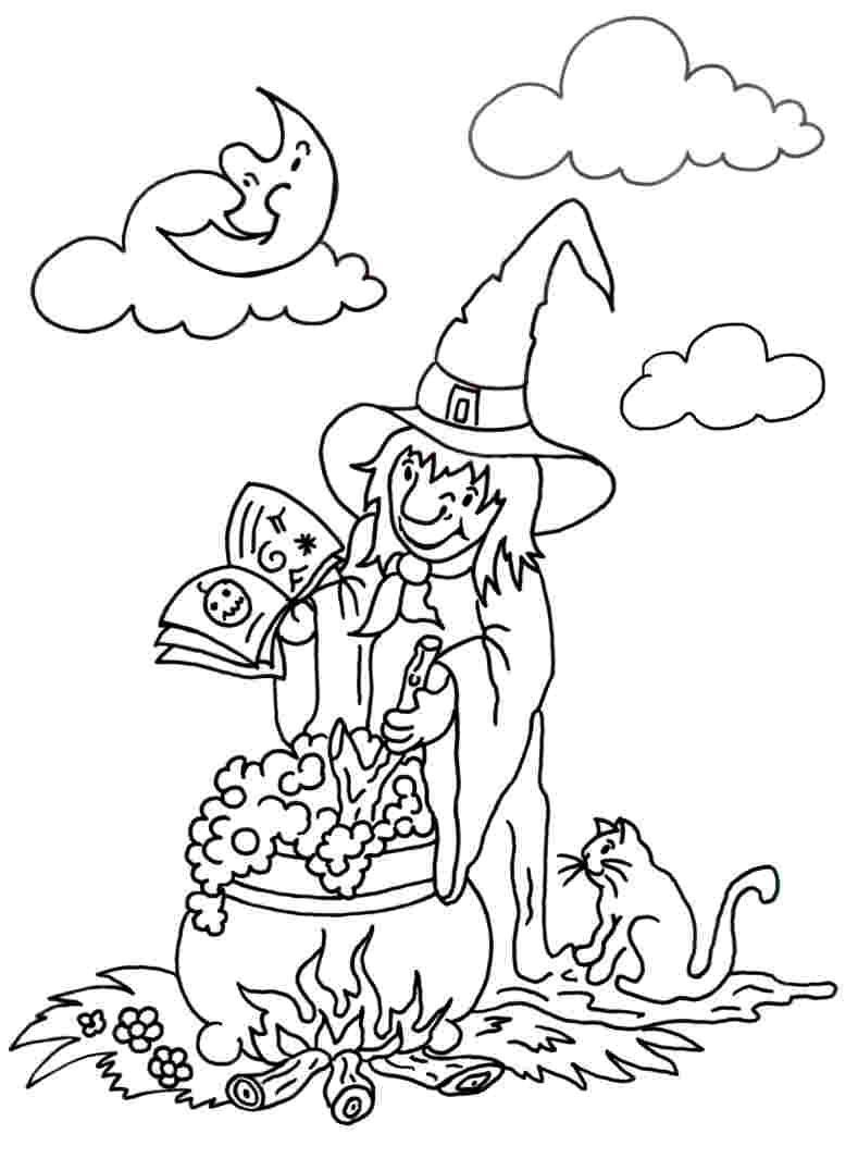 Gratis Ausmalbilder Halloween : Ausmalbilder Die Kleine Hexe 07 Tolle Ideen Pinterest