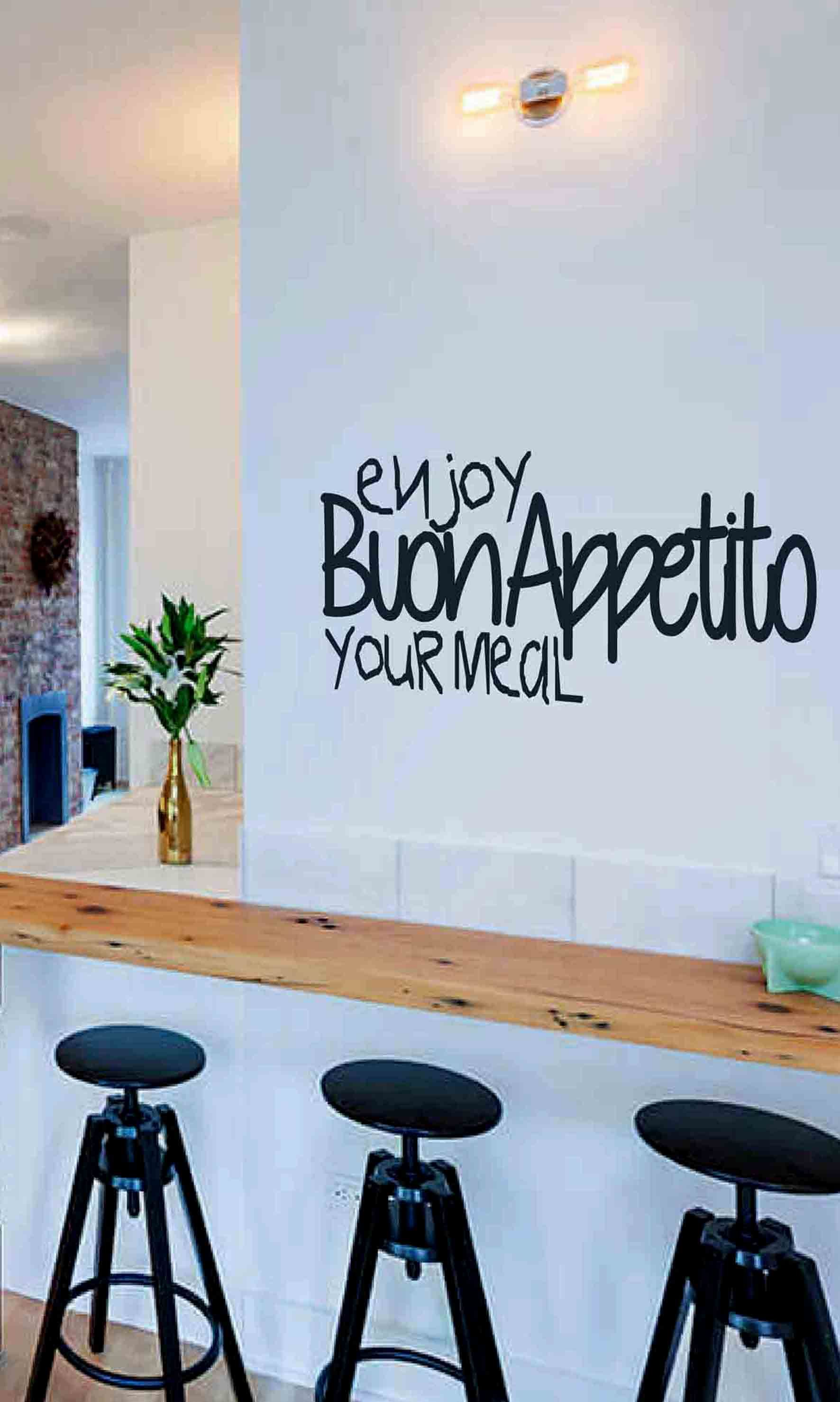 Enjoy your meal Wall sticker kitchen sticker wall decor   Etsy ...