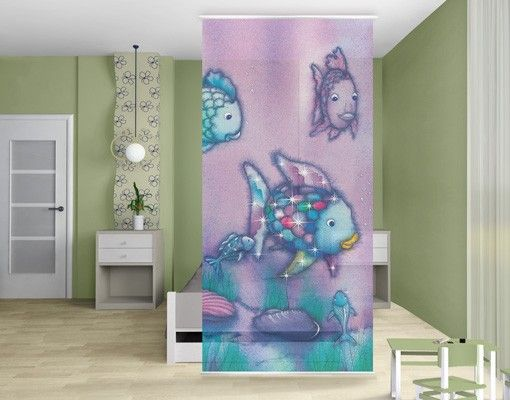 Raumteiler kinderzimmer der regenbogenfisch unterwasserparadies 250x120cm in 2019 pastell - Kinderzimmer pastell ...
