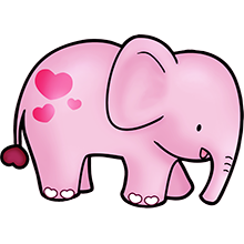 Elefante Rosa Bebé Dibujos De Elefantes Elefante Infantil Y