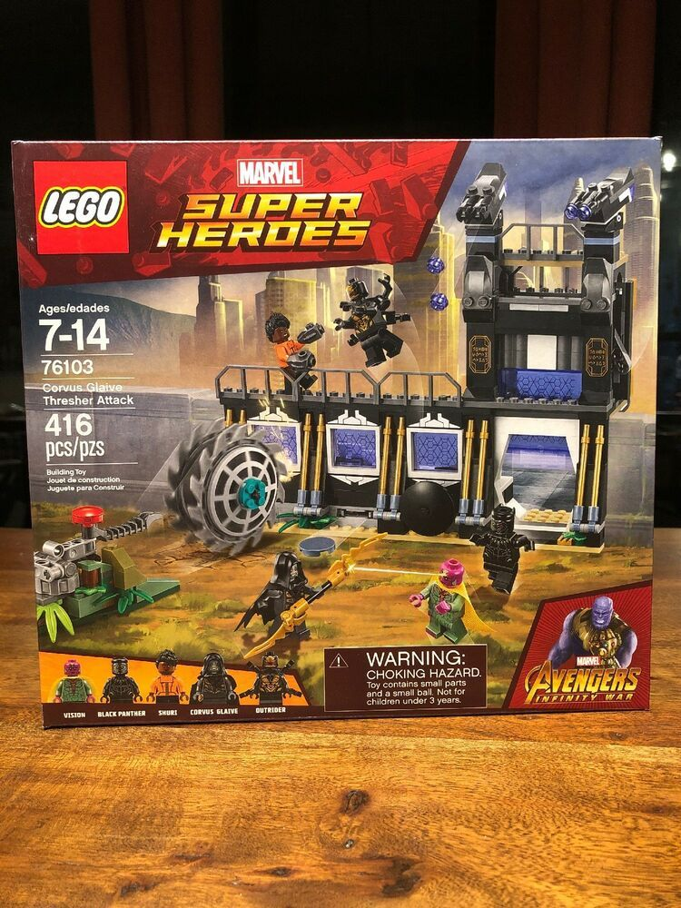 Lego Marvel Super Heroes Avengers Corvus Glaive Thresher Attack 76103 New Sealed Afflink When You Click On Links To Various Merchants On T Lego Love
