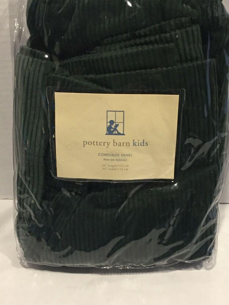 Pottery Barn Kids Corduroy Panel Green 44x44 100 Cotton