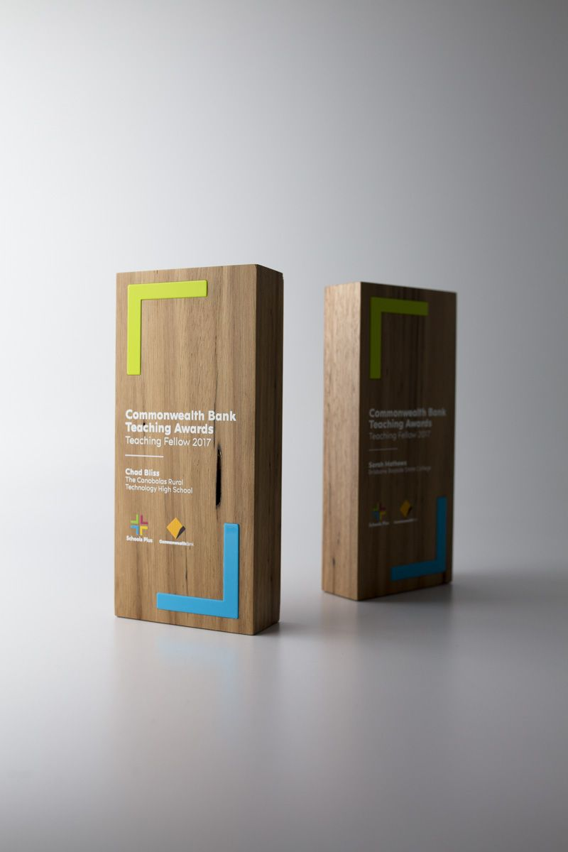 Unity tall modern trophy creative design beautiful materials not glass - Commonwealth Bank Teaching Awards Teaching Fellow Trophies Design Awards