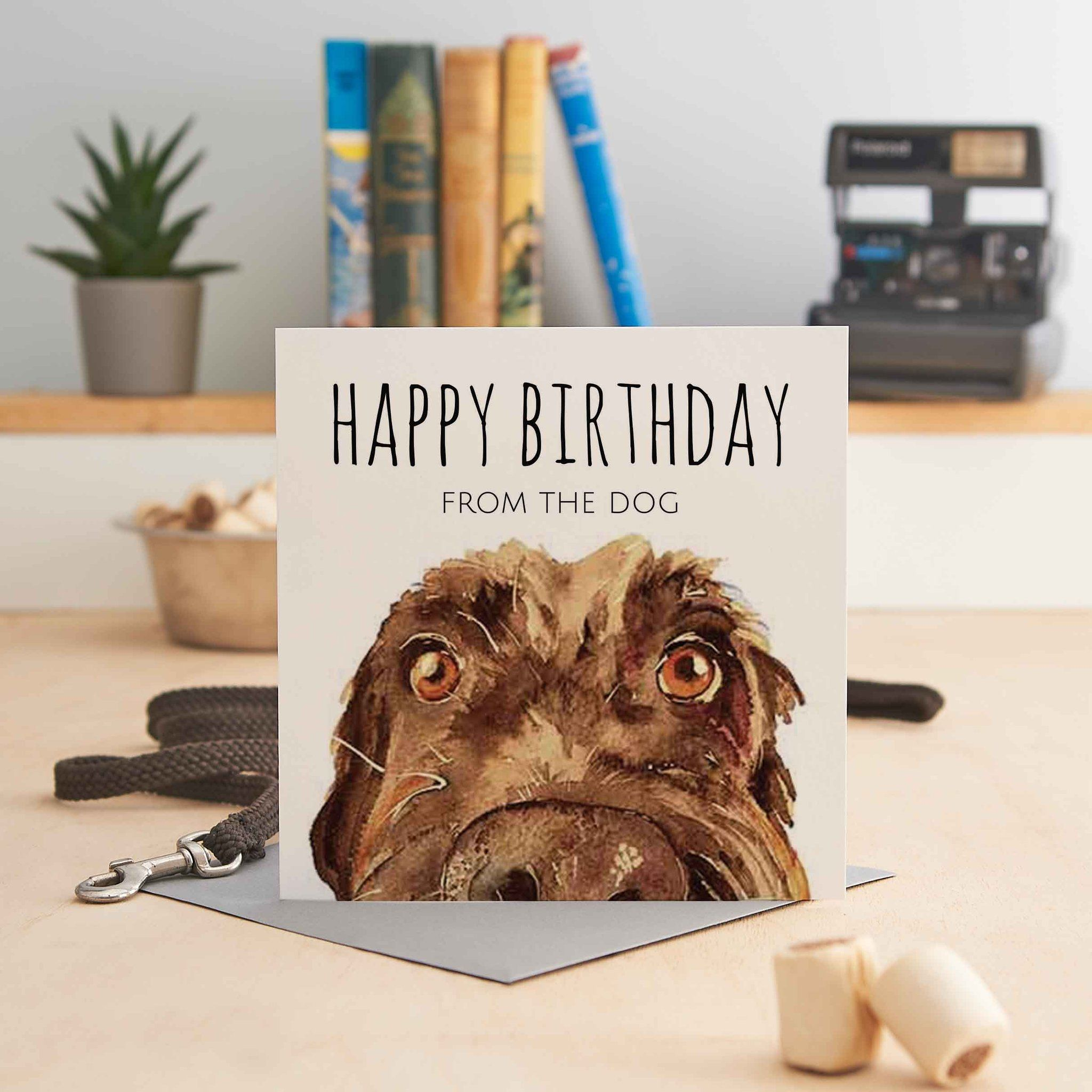 Happy Birthday From The Dog Greeting Cards Dog Greeting Cards Dog Friends Greeting Cards