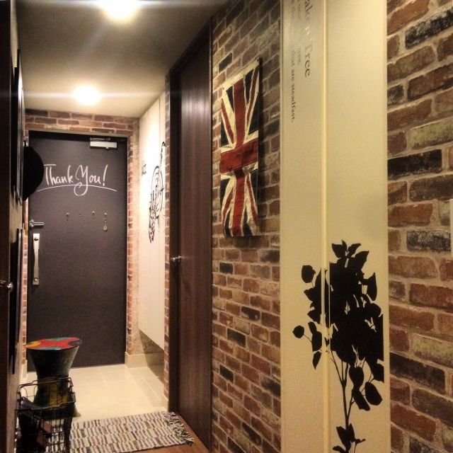 Ts44さんの 玄関 入り口 玄関 ウォールステッカー カフェ風 ウォール