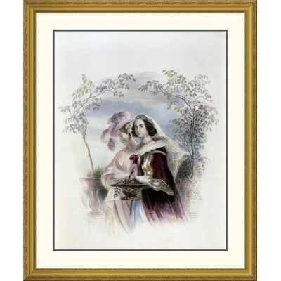 Global Gallery 'Rose Acacia' Framed Graphic Art Size: