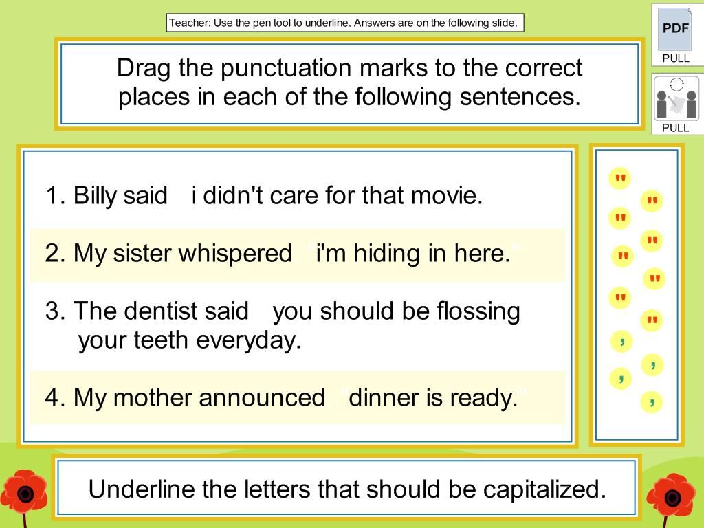 Commas And Quotation Marks Core Lesson Digicore